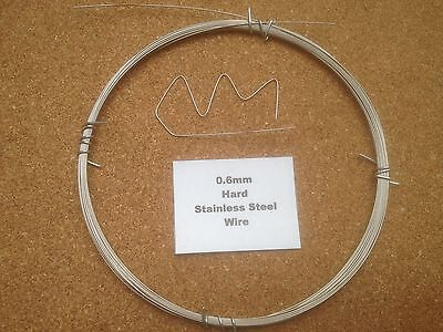 £1.39 • Buy 0.6mm X 10m 23 SWG Stainless Steel Wire Floristry Craft Fishing