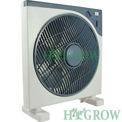 £26.50 • Buy Box Fan 12  Fan Air Mover Oscillate, 3 Speed Timer. Tent Grow Room Space Saver
