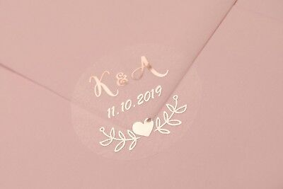 Foil Wedding Stickers Labels  Favours Frosted / Semi Transparent (not Clear) D7 • 7£