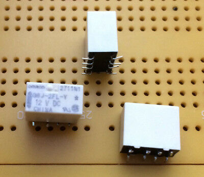 £3.99 • Buy 1A DPDT NonLatching SMD Signal Relay 12V Dc Coil Gold Clad G6J2FLY12DC Multi Qty