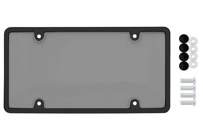 $7.95 • Buy Unbreakable Tinted Smoke License Plate Shield Cover + Black Frame + 4 Screw Caps
