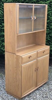 £1085 • Buy Superb Modern Windsor  Ercol  Glazed Bookcase/cabinet Very Clean  2 Man Delivery
