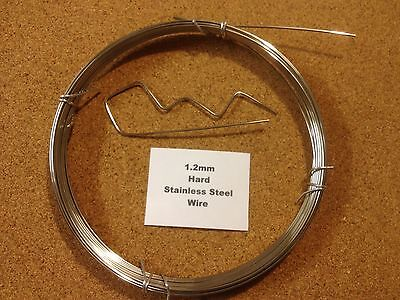 1.2mm X 1m 18 SWG Stainless Steel Wire Floristry Craft Bonsai Fishing Lures • 0.99£