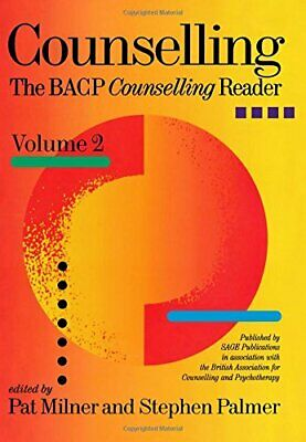 £7.85 • Buy Counselling: The BACP Counselling Reader: V. 2 By Stephen Palmer Paperback Book