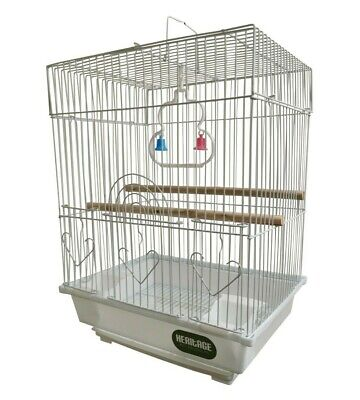 £14.50 • Buy HERITAGE CAGES WARWICK BUDGIE FINCH BIRD CAGE 30x23x39CM BUDGIES CANARY HOME PET