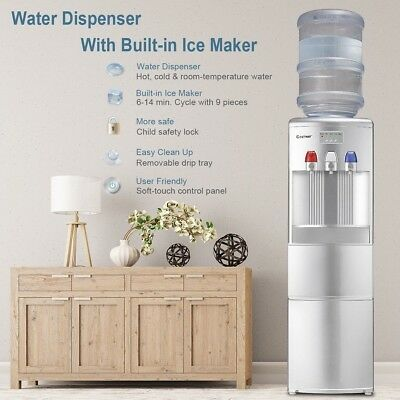 Home Top Loading Hot/Cold Water Dispenser With Built-In Room Ice Maker Machine • 437.99$