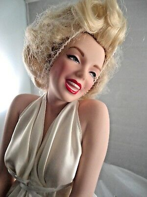 Franklin Mint Marilyn Monroe Porcelain Doll  7 Seven Year Itch  With Box  • 99.60£