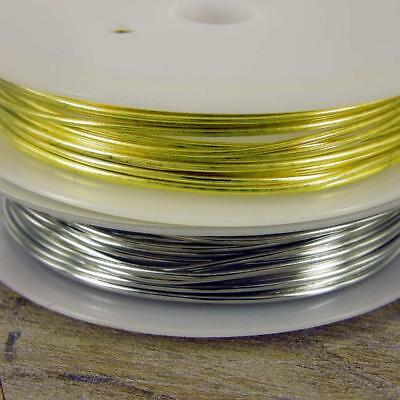 £1.50 • Buy 2.5m COPPER 1mm Craft Wire / Gold Or Silver  / Tiara Making / Crafts