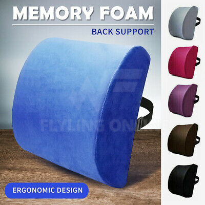 AU19.05 • Buy Memory Foam Lumbar Back Pillow Support Back Cushion Home Office Car Seat Chair
