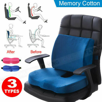 AU15.58 • Buy Memory Foam Lumbar Back Pillow Support Seat Cushion Home Office Car Seat Chair