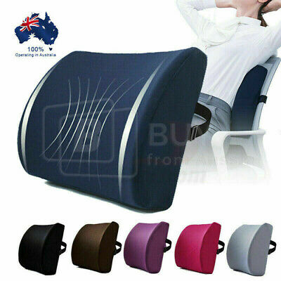 AU19.93 • Buy Memory Foam/Mesh Lumbar Back Pillow Support Cushion Home Office Car Seat Chair