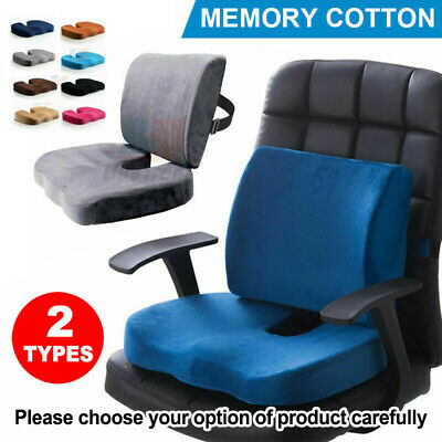 AU19.96 • Buy Memory Foam Lumbar Back Neck Pillow Support Seat Cushion Home Office Car Chair