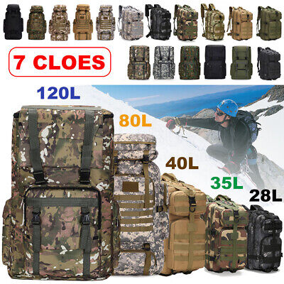 AU21.90 • Buy Waterproof 28L Military Tactical Backpack Rucksack Hiking Bag Camping Outdoor