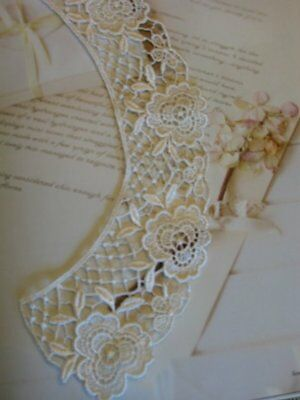 12 Pieces Of Ivory Floral Venise Lace Collars In 6 SETS • 12.74£