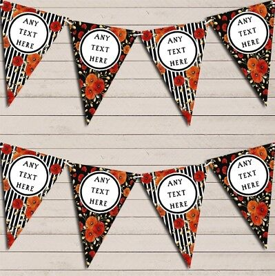 Poppy Flowers Stripes Poppies Banner Wedding Day Bunting • 6.79£