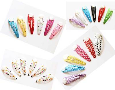 £1.15 • Buy 6 X GLUE ON Metal Colourful DIY Hair Snaps Clips With Pad Craft Bow - UK Seller