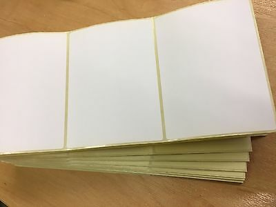 LARGE WHITE SELF ADHESIVE POSTAGE LABELS (pack Of 80) 110 X 65mm  • 2.80£