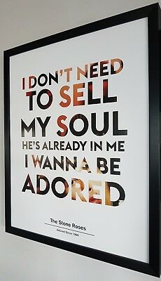 IAN BROWN-THE STONE ROSES Framed Limited Edition Print-I Wanna Be Adored • 39.99£