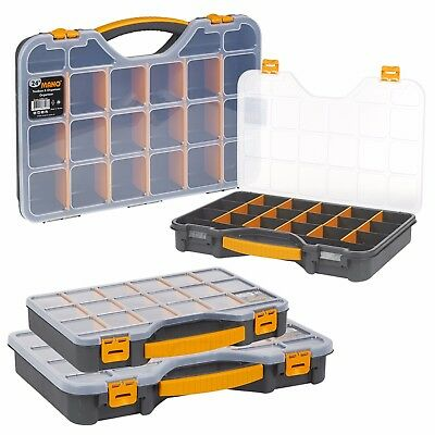 £8.99 • Buy DIY 20 Compartment Parts Storage Organiser Cabinet Screws Carry Case Tool Box