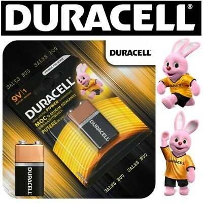 DURACELL DURALOCK 9v 9 VOLT BLOCK BATTERY CELL PP3 GENUINE ALKALINE POWER • 3.99£