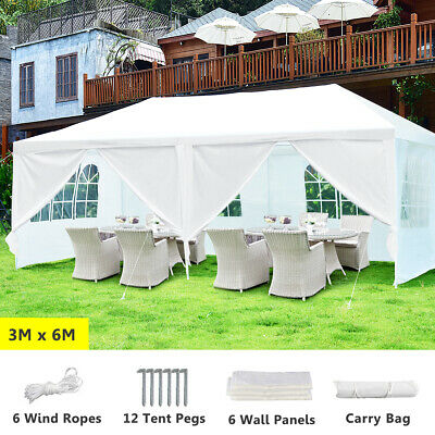 AU123 • Buy 3x6m Gazebo Outdoor Wedding Marquee Party Event Tent Canopy Camping Side Walls