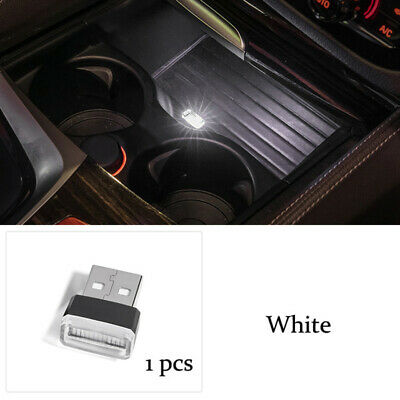 $0.99 • Buy White Mini USB LED Car Interior Light Neon Atmosphere Ambient Lamp Accessories
