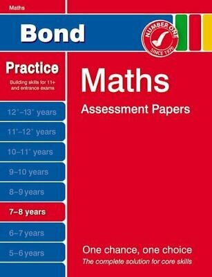 Bond Maths Assessment Papers 7-8 Years By Baines, Andrew Book The Cheap Fast • 9.99£