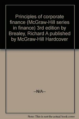 £3.49 • Buy Principles Of Corporate Finance (The McGraw-Hill Series ... By Myers, Stewart C.