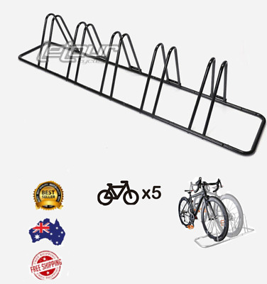 AU48.85 • Buy 1 - 5 Bike Floor Parking Rack Storage Stand Bicycle T Black