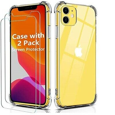 AU8.90 • Buy 360 Shockproof Case Clear Soft Gel Cover For Apple IPhone 12 11 XS Max XR 8 7 6+