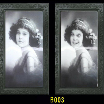 $ CDN4.39 • Buy Holographic Halloween Wall Picture - Framed Party Decoration Spooky Ghost Photo