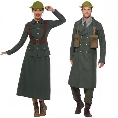 WW2 British Office Army Warden Wartime Adult Mens Womens 40s Fancy Dress Outfit • 24.49£
