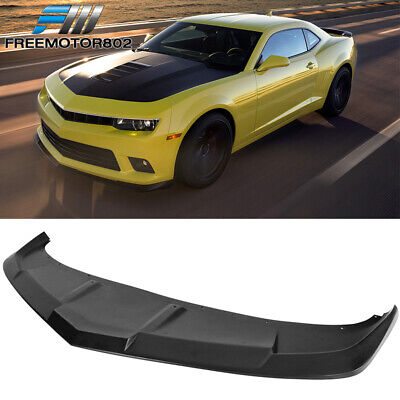 $161.88 • Buy Fits 14-15 Chevy Camaro SS PU Front Bumper Lip Splitter Spoiler 1LE Style