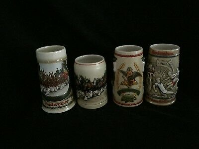 $ CDN42.84 • Buy Budweiser LOT OF 4 Vintage Budweiser Stein Mint Condition ~ 1 Owner