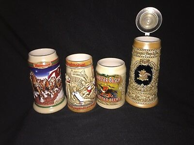 $ CDN52.73 • Buy Budweiser Lot Of 4 Vintage Budweiser Stein Mint Condition ~ 1 Owner