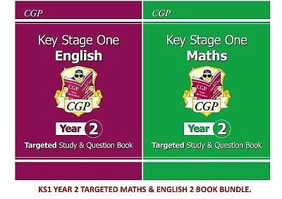 Ks1 Year 2 Sats Targeted English & Maths 2 Book Bundle For Ages 6-7 • 11.99£