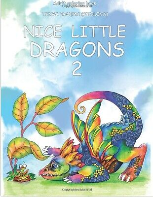£8.99 • Buy Cute Dragons Adult Colouring Book Fantasy Whimsical Nice Little 2 Mystical Fairy