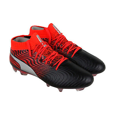 ee6185c6a Puma One 18.1 Syn Fg Mens Black Synthetic Athletic Lace Up Soccer Shoes