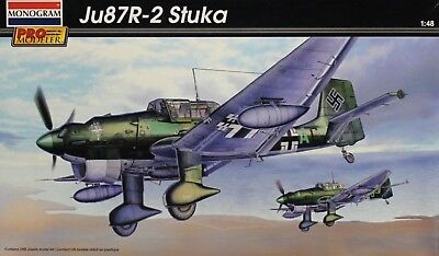 $44 • Buy Monogram Pro Modeler 1/48 Scale Ju87 R-2 Stuka Kit No. 85-5975