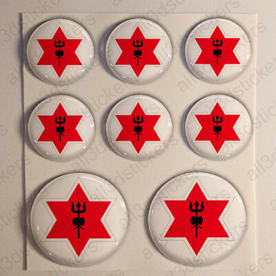 Nepal Stickers Air Force Roundel Cockade 3D Adhesive Flag Resin Domed • 5.49£