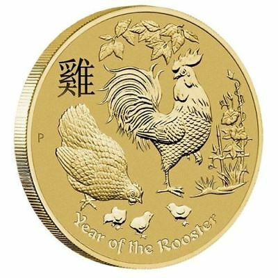 AU12 • Buy Australia 2017 Year Of The Rooster $1 One Dollar UNC Coin Carded