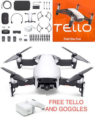 AU1415.42 • Buy Mavic Air Fly More Combo Arctic White & DJI Goggles AND FREE TELLO
