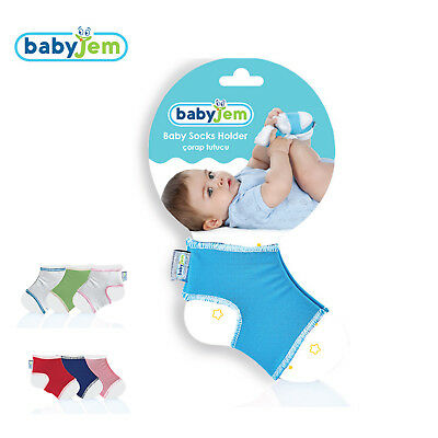 BabyJem Baby Socks Holder Keeping Socks On Size 0-6 Months 1 / 2 Pairs (ART-048) • 6.50£