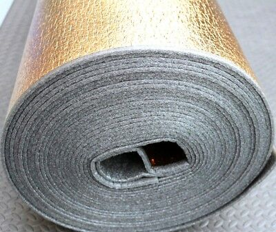 5mm Natural Gold Laminate Engineered Wood Flooring Underlay Sound Damp Proof DPM • 35£