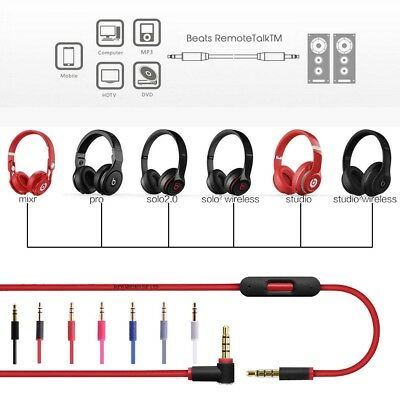£6.49 • Buy V2 BEATS AUDIO CABLE 3.5mm Replacement Audio Cable With MIC & REMOTE CONTROL