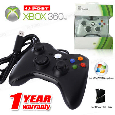 AU34.96 • Buy New Wired Controller For Windows For Xbox 360 Console PC USB Black White