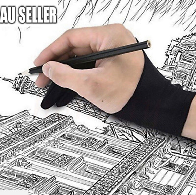 AU4.50 • Buy Professional S/M/L Size Graphic Tablet Artist Sketch Drawing Two Finger Glove