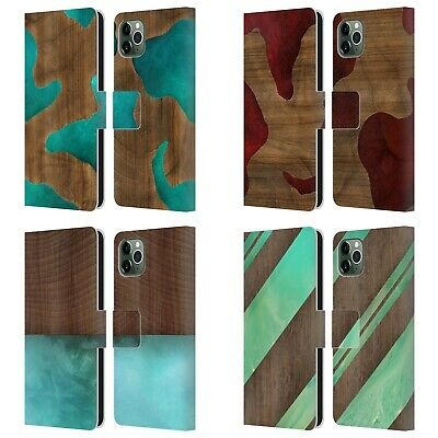 OFFICIAL ALYN SPILLER WOOD & RESIN LEATHER BOOK CASE FOR APPLE IPHONE PHONES • 12.95£