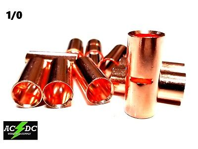 AU28.48 • Buy 1/0 Gauge Bare Copper Butt Connector 25 Pk Crimp Terminal Awg Battery