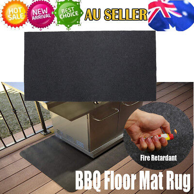 AU23.75 • Buy Burn Protection Fire Retardant BBQ Floor Mat Rug Barbecue Grill Pad 124 X 75cm